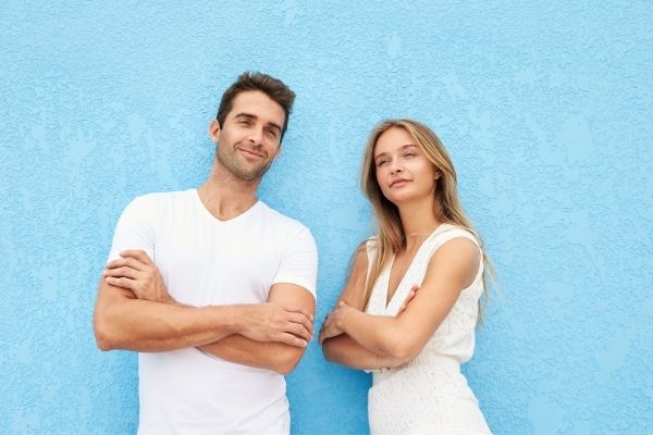 height lengthening confident couple
