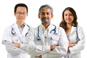 multiracial doctors height lengthening