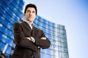tall confident business man success height make me taller